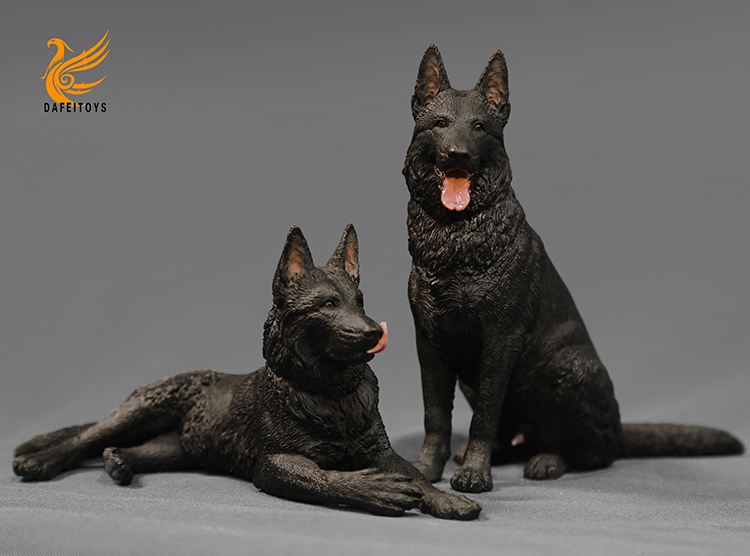 NEW PRODUCT: Dafei GK Studio New: 1/6 German Shepherd - Lying Position & Sitting Position 18353811
