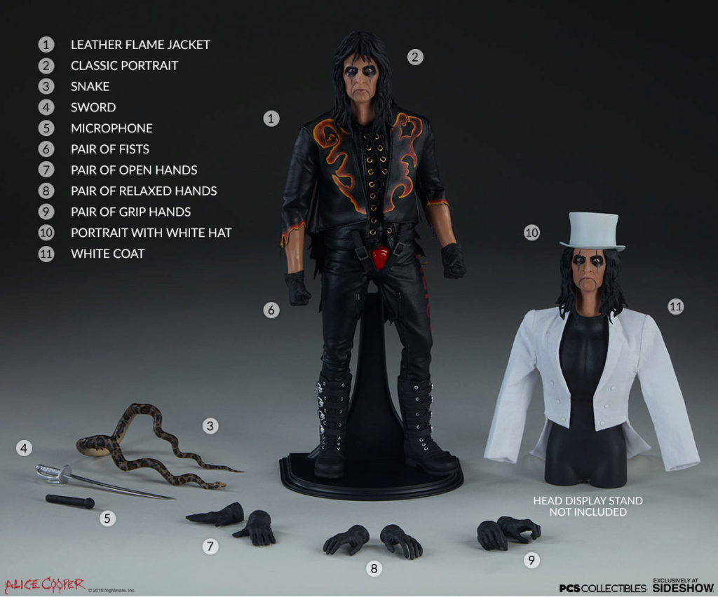 NEW PRODUCT: Alice Cooper Sixth Scale Figure by Pop Culture Shock 1836