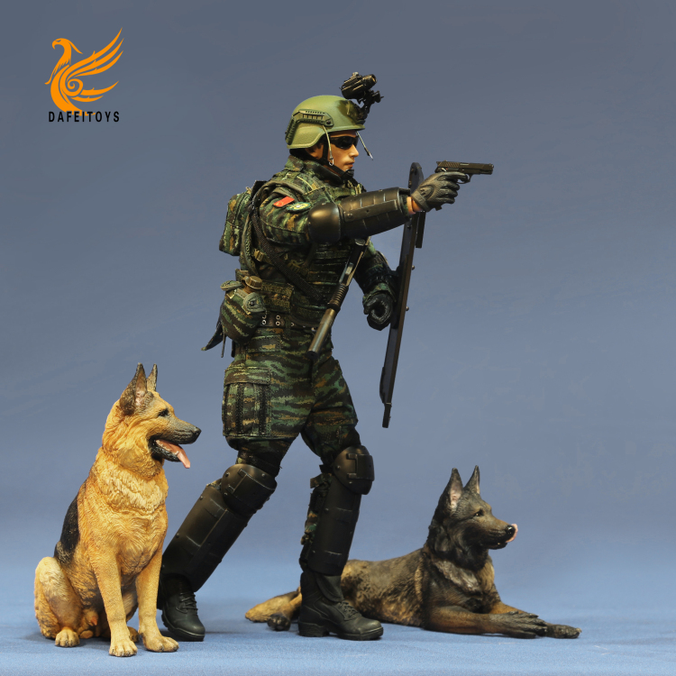 NEW PRODUCT: Dafei GK Studio New: 1/6 German Shepherd - Lying Position & Sitting Position 18361210