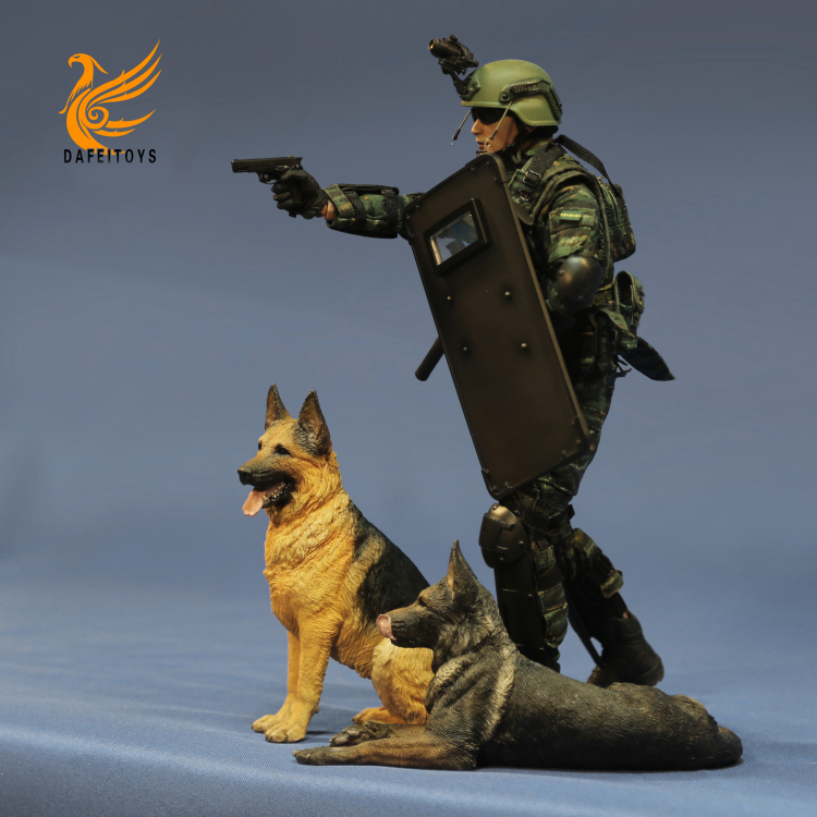 NEW PRODUCT: Dafei GK Studio New: 1/6 German Shepherd - Lying Position & Sitting Position 18361310