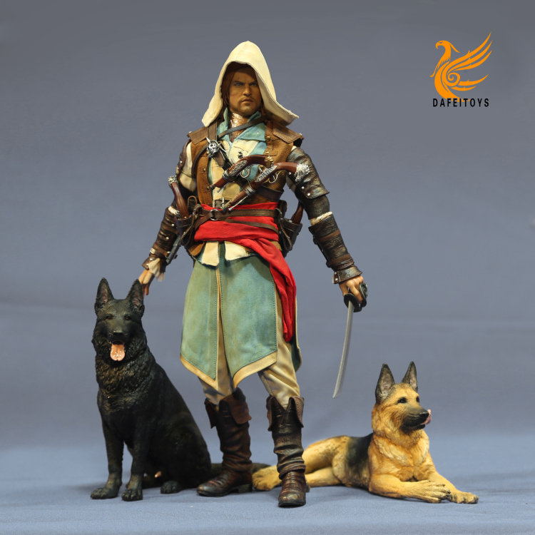 NEW PRODUCT: Dafei GK Studio New: 1/6 German Shepherd - Lying Position & Sitting Position 18361311