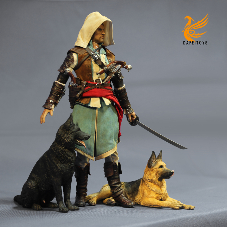 NEW PRODUCT: Dafei GK Studio New: 1/6 German Shepherd - Lying Position & Sitting Position 18361410