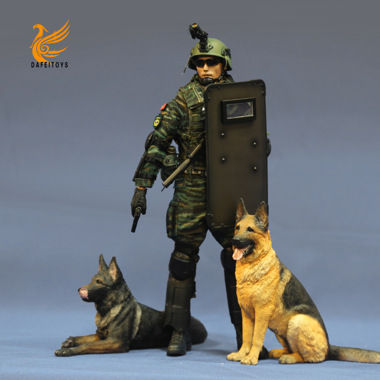 NEW PRODUCT: Dafei GK Studio New: 1/6 German Shepherd - Lying Position & Sitting Position 18361510