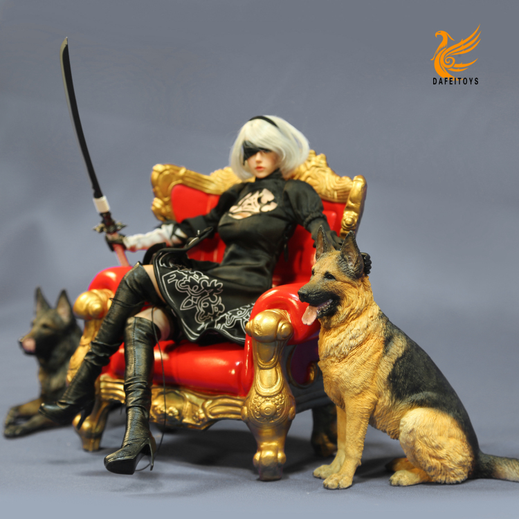 NEW PRODUCT: Dafei GK Studio New: 1/6 German Shepherd - Lying Position & Sitting Position 18361710