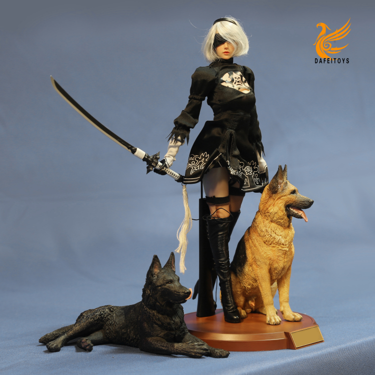 NEW PRODUCT: Dafei GK Studio New: 1/6 German Shepherd - Lying Position & Sitting Position 18361910
