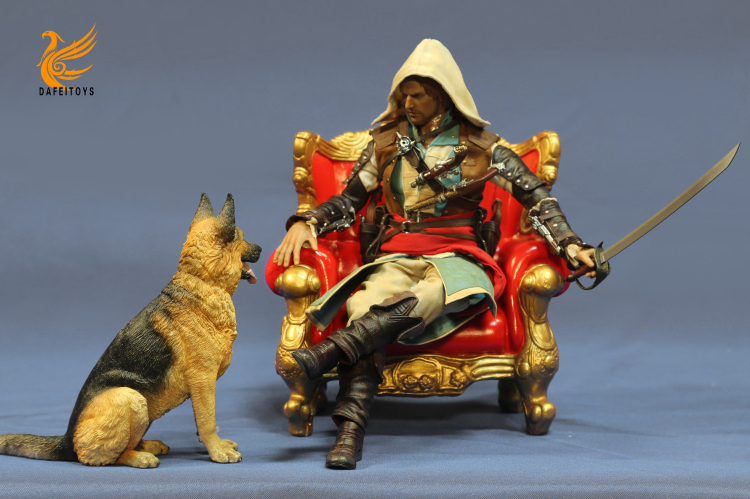 NEW PRODUCT: Dafei GK Studio New: 1/6 German Shepherd - Lying Position & Sitting Position 18362110