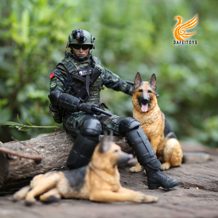 NEW PRODUCT: Dafei GK Studio New: 1/6 German Shepherd - Lying Position & Sitting Position 18362710