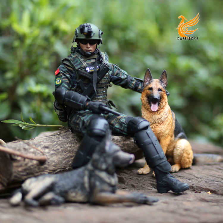 NEW PRODUCT: Dafei GK Studio New: 1/6 German Shepherd - Lying Position & Sitting Position 18362910