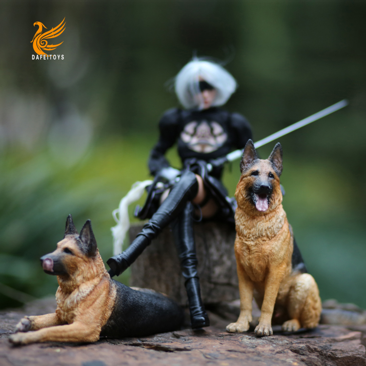 NEW PRODUCT: Dafei GK Studio New: 1/6 German Shepherd - Lying Position & Sitting Position 18363310