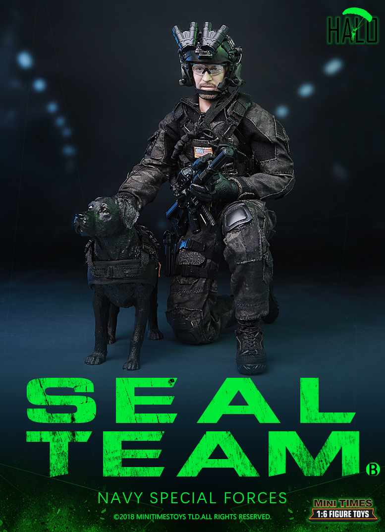 "Dog - NEW PRODUCT: MINI TIMES TOYS US NAVY SEAL TEAM SPECIAL FORCES ""HALO"" 1/6 SCALE ACTION FIGURE MT-M013 1838"