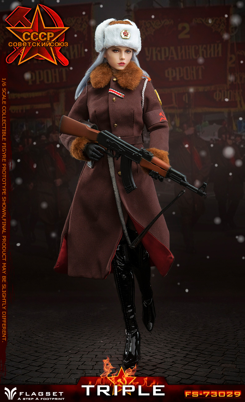 Flagset - NEW PRODUCT: Flagset: 1/6 Red Alert Soviet female officer Katyusha (#FS73029) 18383610