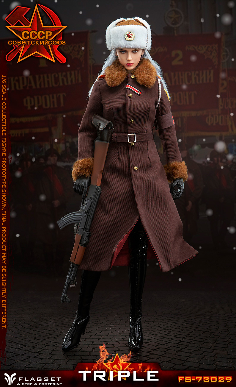 Flagset - NEW PRODUCT: Flagset: 1/6 Red Alert Soviet female officer Katyusha (#FS73029) 18383611