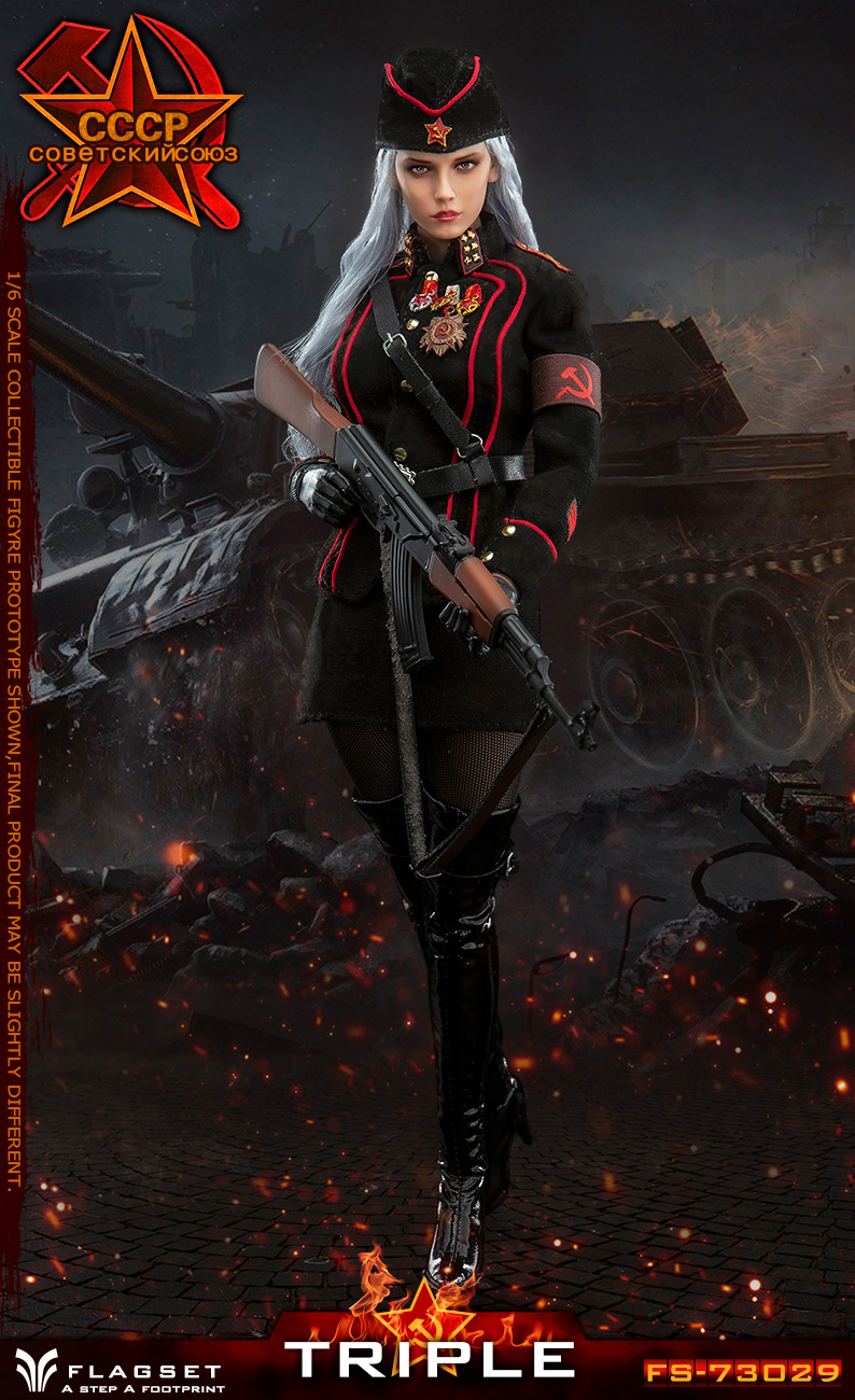 Flagset - NEW PRODUCT: Flagset: 1/6 Red Alert Soviet female officer Katyusha (#FS73029) 18385111