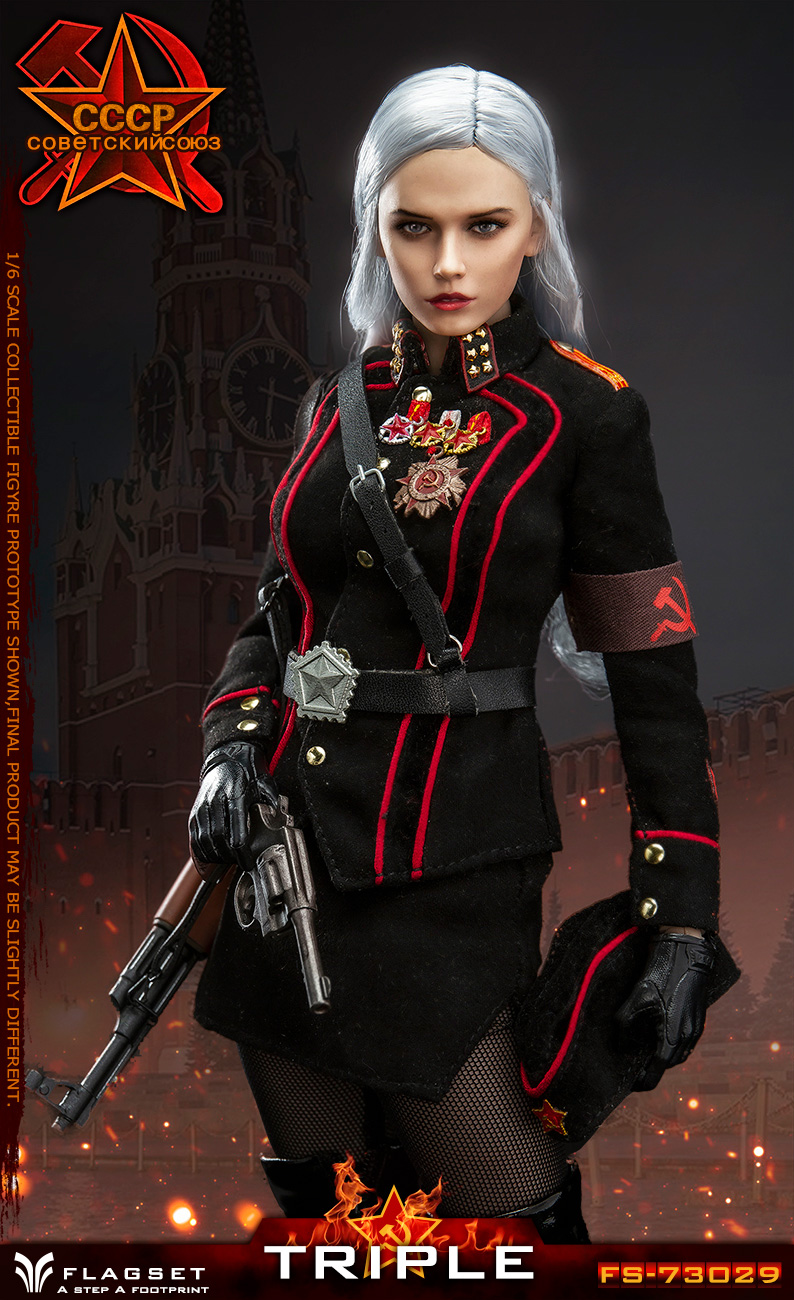 Flagset - NEW PRODUCT: Flagset: 1/6 Red Alert Soviet female officer Katyusha (#FS73029) 18390211