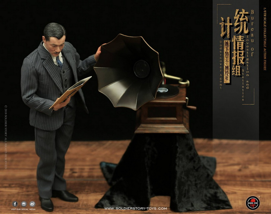 SoldierStory - NEW PRODUCT: SoldierStory new product: 1/6 World War II statistical intelligence group underground agent Fu Jingian - Shanghai 1942 (SS113#) 1840