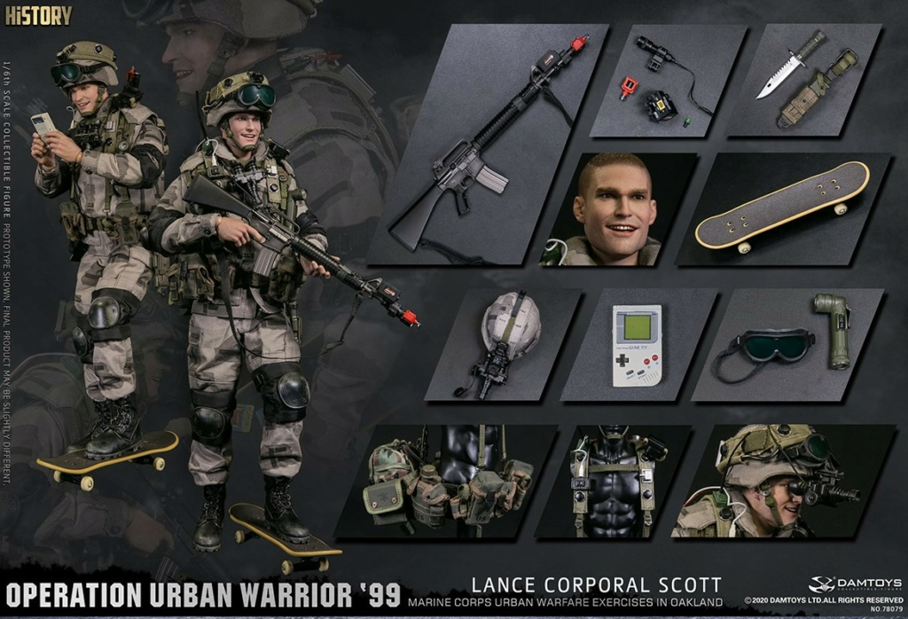 MarineCorps - NEW PRODUCT: DAMToys: 1/6 '99 City Warrior Operation-Marine Corps Oakland City Battle Exercise - Lance Corporal Scott #78079 18420510