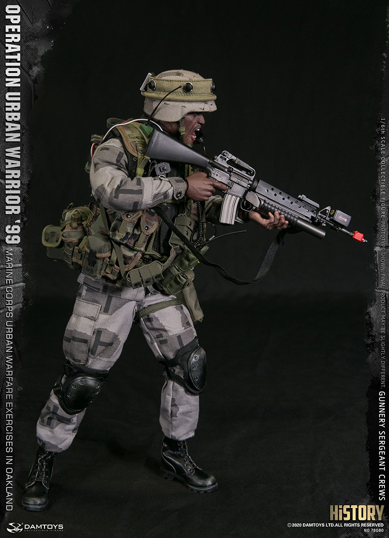 modernmilitary - NEW PRODUCT: DAMTOYS: 1/6 '99 City Warriors Operation-Marine Corps Oakland City Battle Exercise-Gunner Sergeant Cruise #78080 18480910