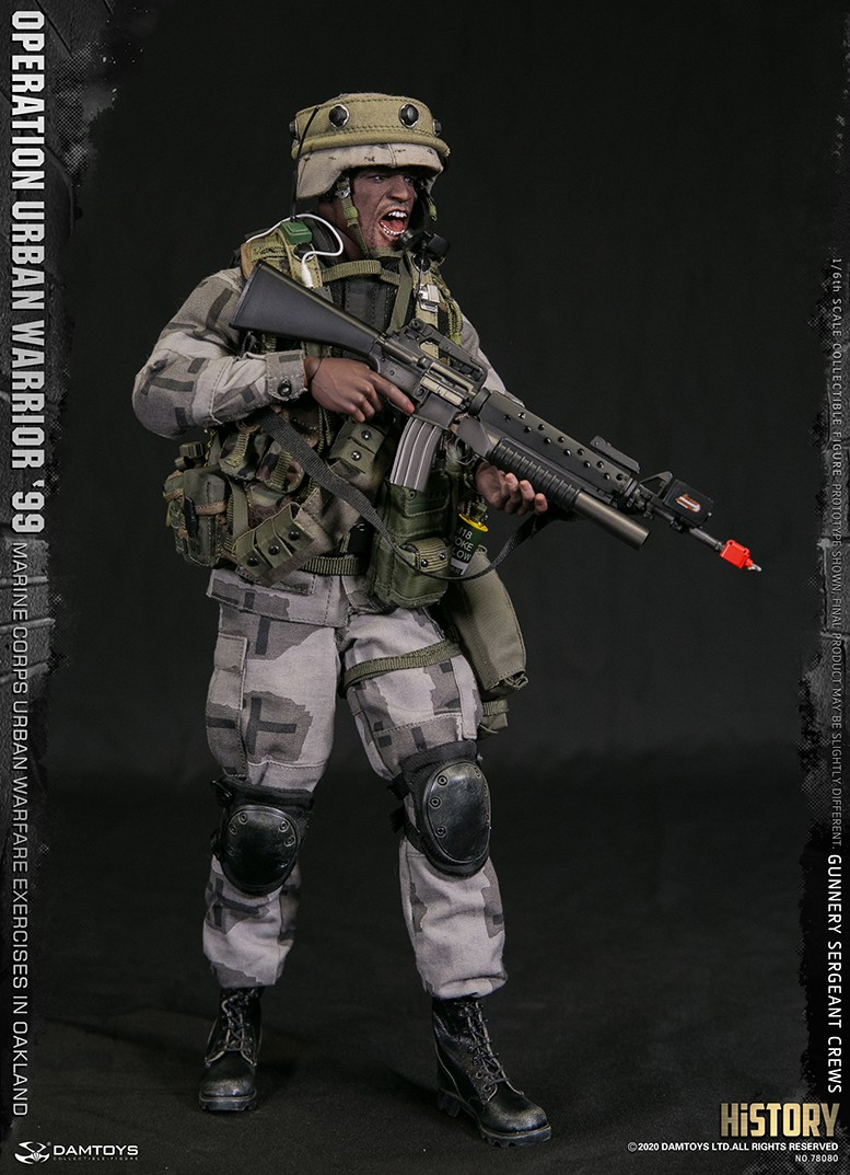 modernmilitary - NEW PRODUCT: DAMTOYS: 1/6 '99 City Warriors Operation-Marine Corps Oakland City Battle Exercise-Gunner Sergeant Cruise #78080 18480911