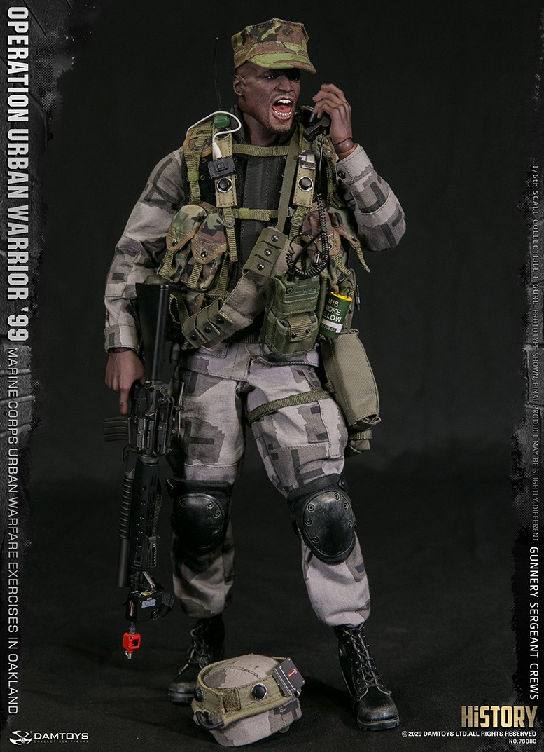 modernmilitary - NEW PRODUCT: DAMTOYS: 1/6 '99 City Warriors Operation-Marine Corps Oakland City Battle Exercise-Gunner Sergeant Cruise #78080 18481110