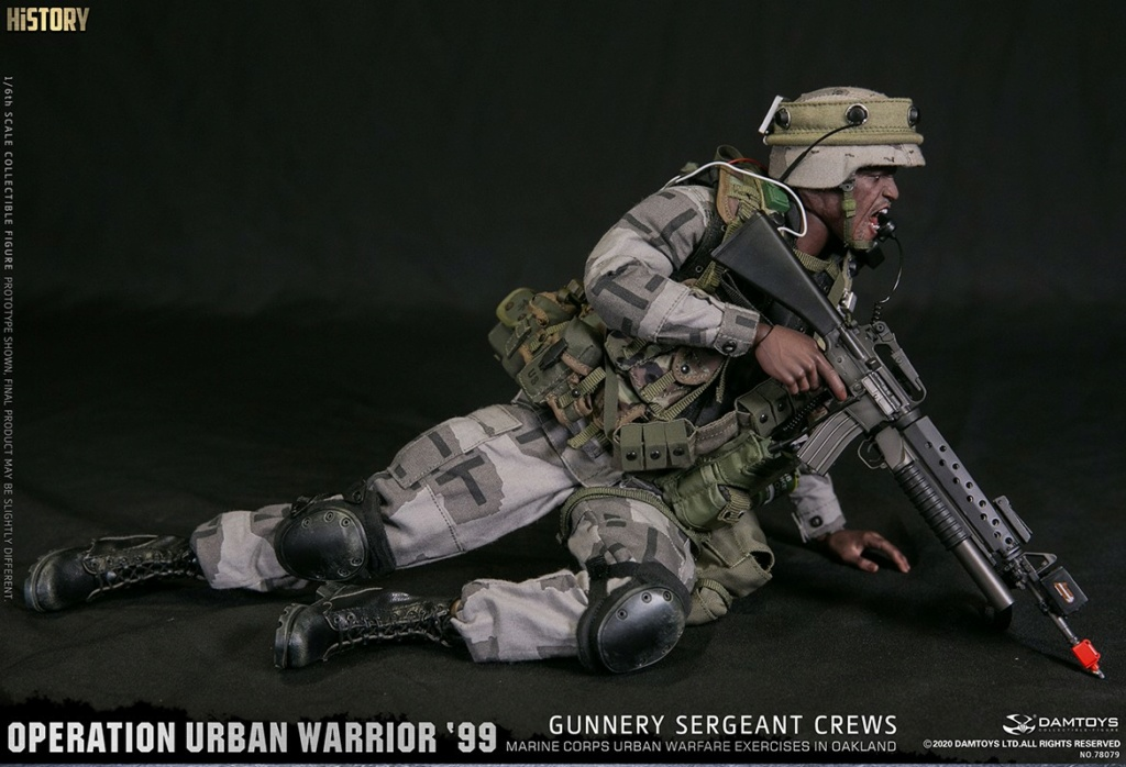 modernmilitary - NEW PRODUCT: DAMTOYS: 1/6 '99 City Warriors Operation-Marine Corps Oakland City Battle Exercise-Gunner Sergeant Cruise #78080 18481210