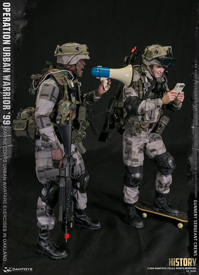 modernmilitary - NEW PRODUCT: DAMTOYS: 1/6 '99 City Warriors Operation-Marine Corps Oakland City Battle Exercise-Gunner Sergeant Cruise #78080 18481211