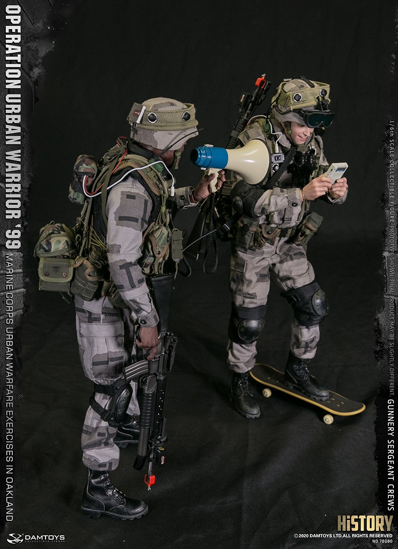 modernmilitary - NEW PRODUCT: DAMTOYS: 1/6 '99 City Warriors Operation-Marine Corps Oakland City Battle Exercise-Gunner Sergeant Cruise #78080 18481310