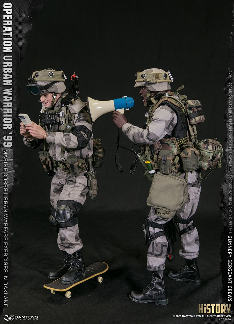 modernmilitary - NEW PRODUCT: DAMTOYS: 1/6 '99 City Warriors Operation-Marine Corps Oakland City Battle Exercise-Gunner Sergeant Cruise #78080 18481311