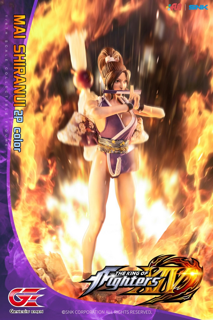 NEW PRODUCT: GENESIS EMEN: THE KING OF FIGHTERS XIV - MAI SHIRANUI 2.0 (2P COLOR) 1/6 SCALE ACTION FIGURE 18585110