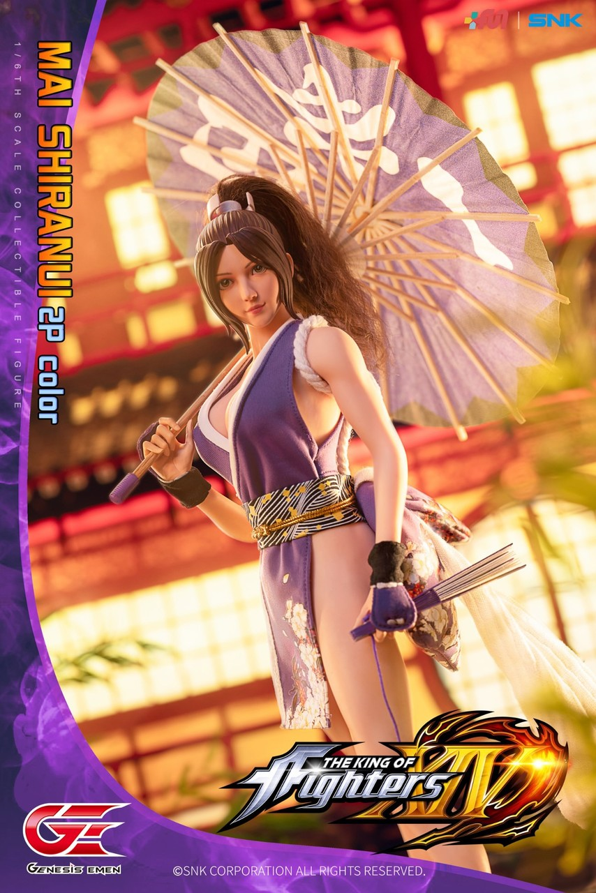 NEW PRODUCT: GENESIS EMEN: THE KING OF FIGHTERS XIV - MAI SHIRANUI 2.0 (2P COLOR) 1/6 SCALE ACTION FIGURE 18585510