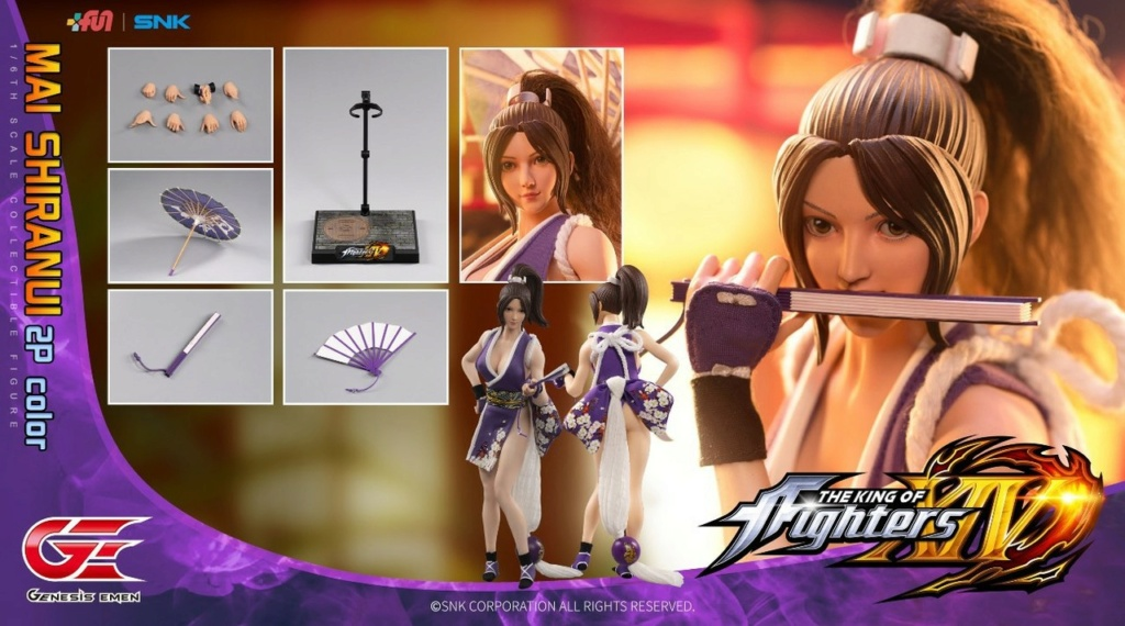 NEW PRODUCT: GENESIS EMEN: THE KING OF FIGHTERS XIV - MAI SHIRANUI 2.0 (2P COLOR) 1/6 SCALE ACTION FIGURE 18590210