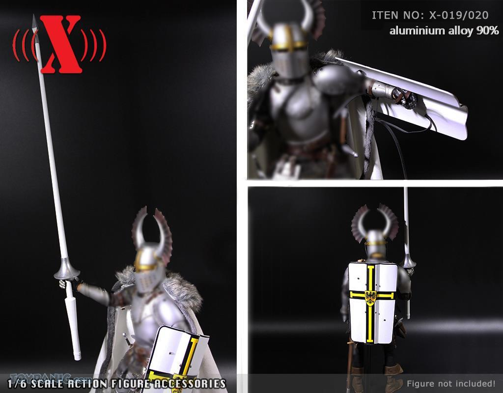 Shield - NEW PRODUCT: X TOYS: Medieval Weapons: Alloy Spear (Lance) (2 styles) & Aluminum Alloy Shield (4 styles) 1874