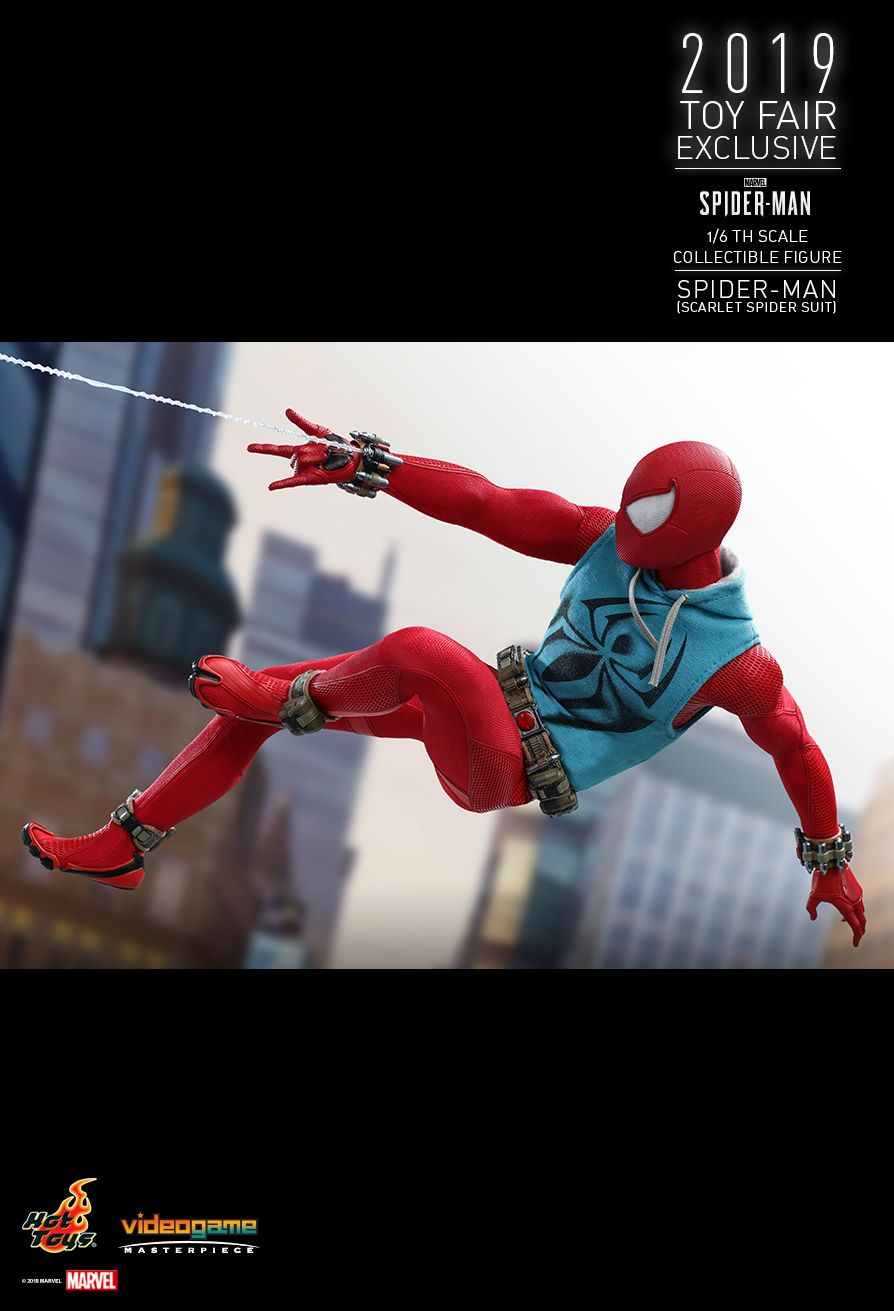 marvel - NEW PRODUCT: HOT TOYS: MARVEL'S SPIDER-MAN SPIDER-MAN (SCARLET SPIDER SUIT) 1/6TH SCALE COLLECTIBLE FIGURE 1884