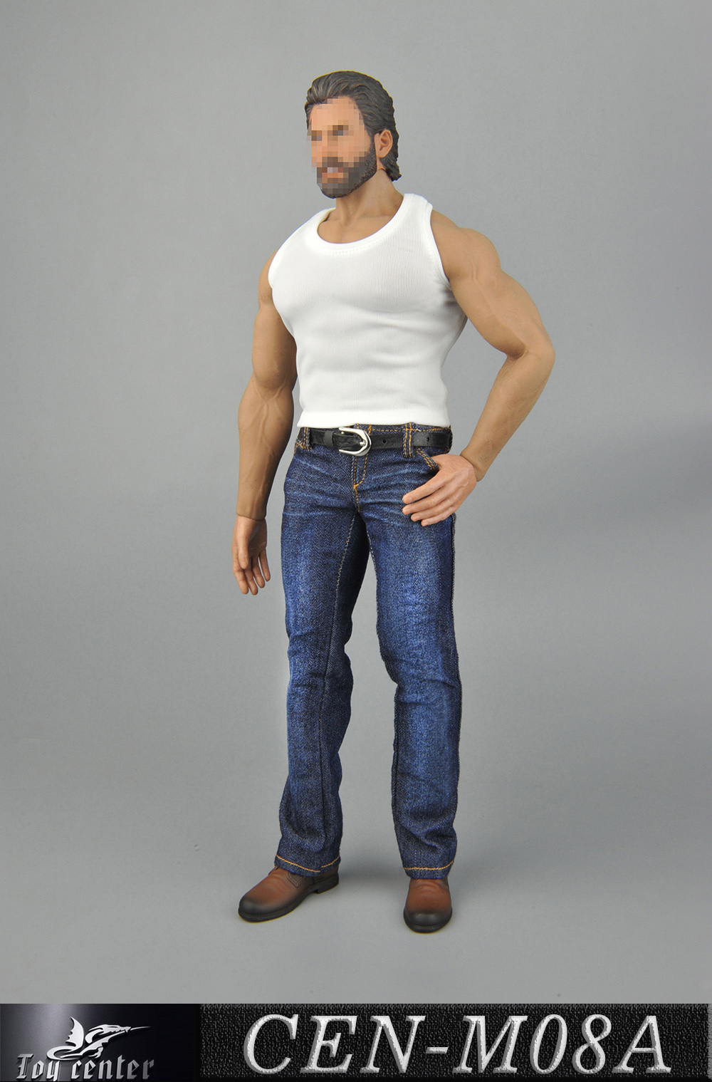 NEW PRODUCT: Toy Center: 1/6 Sports Vest Jeans Set - Three Colors A/B/C 1899