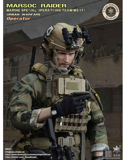 NEW PRODUCT: Easy & Simple 26027 1/6 Scale MARSOC Raider Urban Warfare Operator 19-52810