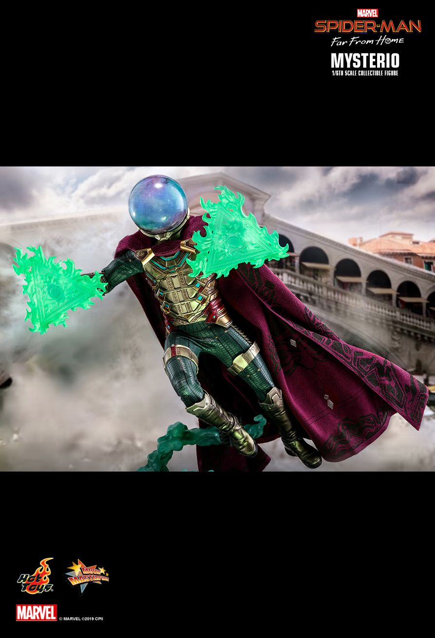NEW PRODUCT: HOT TOYS: SPIDER-MAN: FAR FROM HOME MYSTERIO 1/6TH SCALE COLLECTIBLE FIGURE 19104