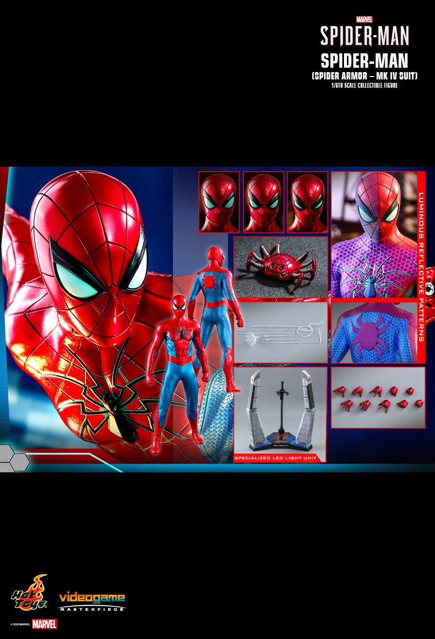 videogame - NEW PRODUCT: HOT TOYS: SPIDER-MAN (SPIDER ARMOR - MK IV SUIT) MARVEL'S SPIDER-MAN 1/6TH SCALE COLLECTIBLE FIGURE 19146
