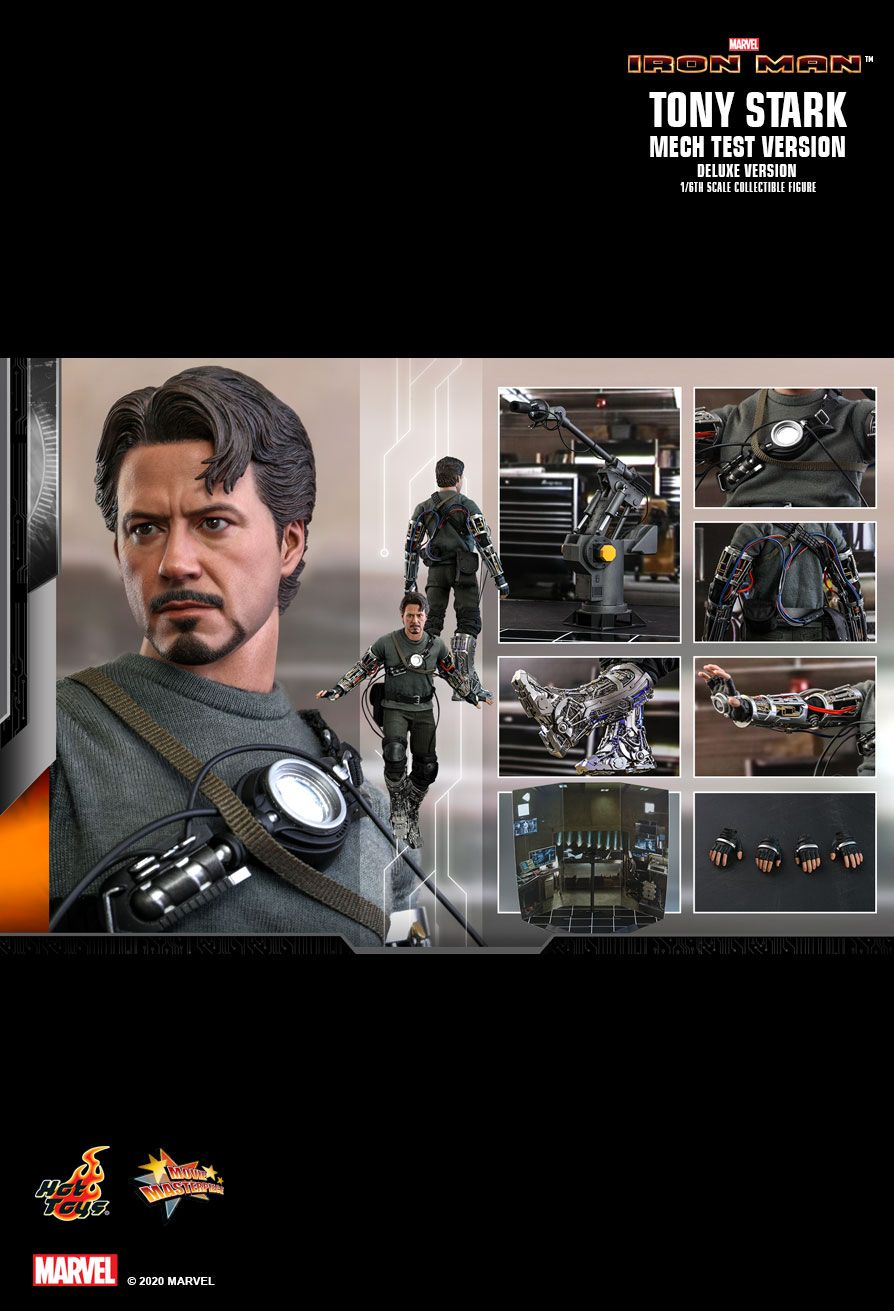 movie - NEW PRODUCT: HOT TOYS: IRON MAN TONY STARK (MECH TEST VERSION) (DELUXE VERSION) 1/6TH SCALE COLLECTIBLE FIGURE 19153
