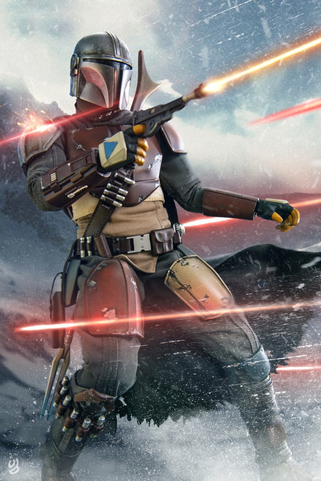 StarWars - NEW PRODUCT: HOT TOYS: THE MANDALORIAN -- THE MANDALORIAN 1/6TH SCALE COLLECTIBLE FIGURE 19155