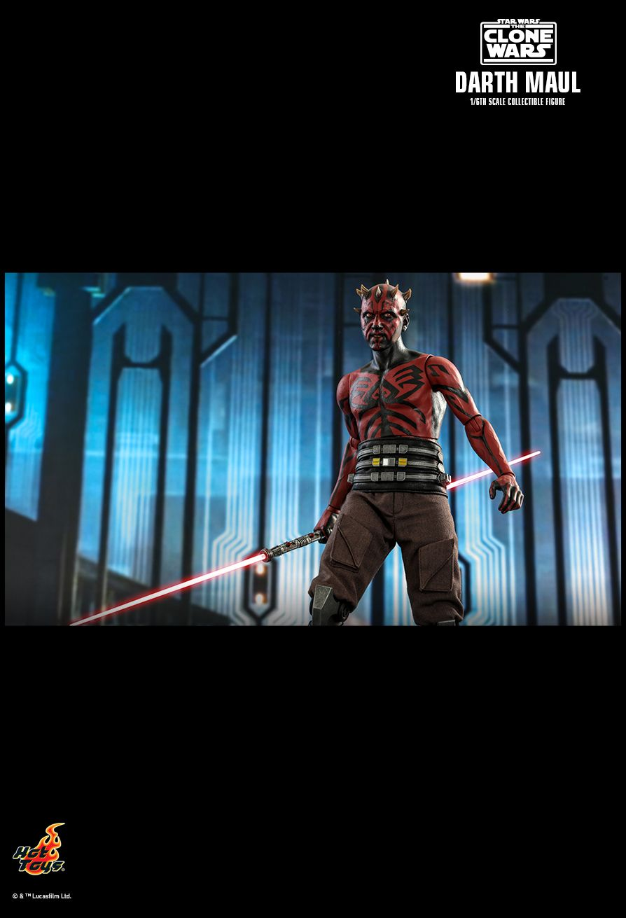 Sci-Fi - NEW PRODUCT: HOT TOYS: STAR WARS: THE CLONE WARS™ DARTH MAUL™ 1/6TH SCALE COLLECTIBLE FIGURE 19162