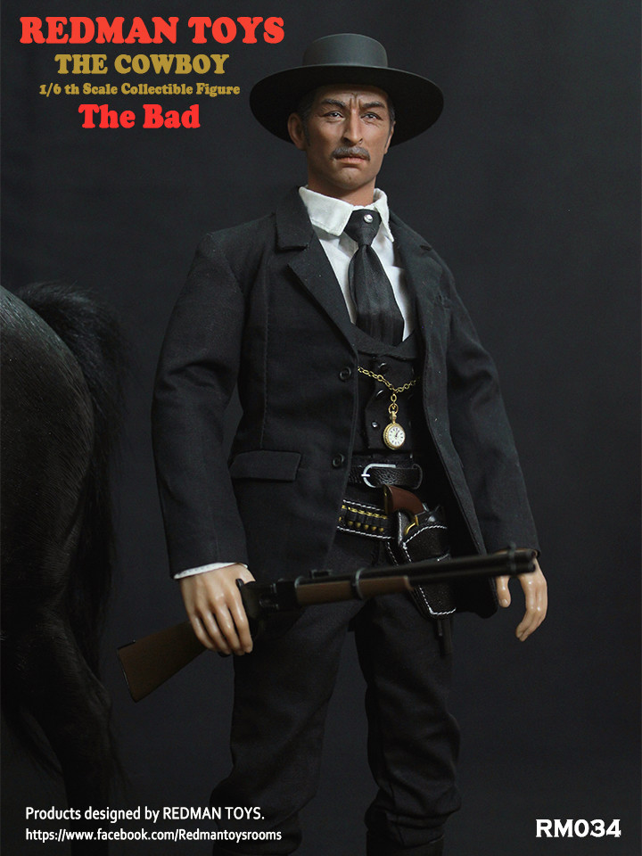 NEW PRODUCT: REDMAN TOYS New: 1/6 Western Cowboy - The Bad 19202311
