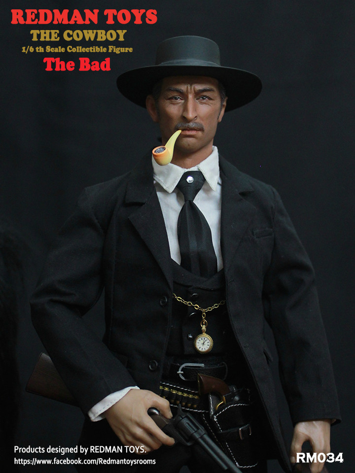 NEW PRODUCT: REDMAN TOYS New: 1/6 Western Cowboy - The Bad 19202312