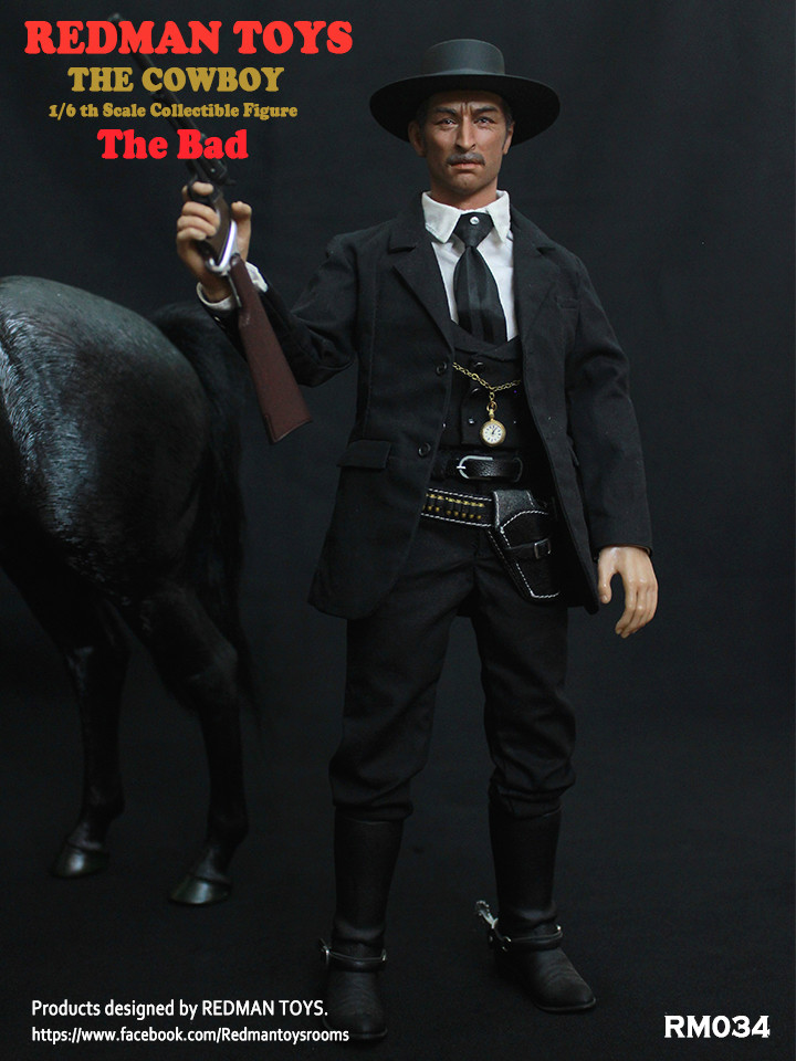 NEW PRODUCT: REDMAN TOYS New: 1/6 Western Cowboy - The Bad 19202313