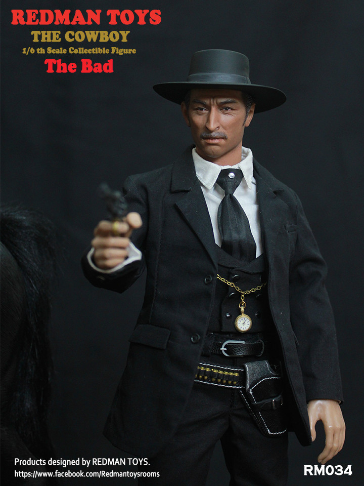 NEW PRODUCT: REDMAN TOYS New: 1/6 Western Cowboy - The Bad 19202314