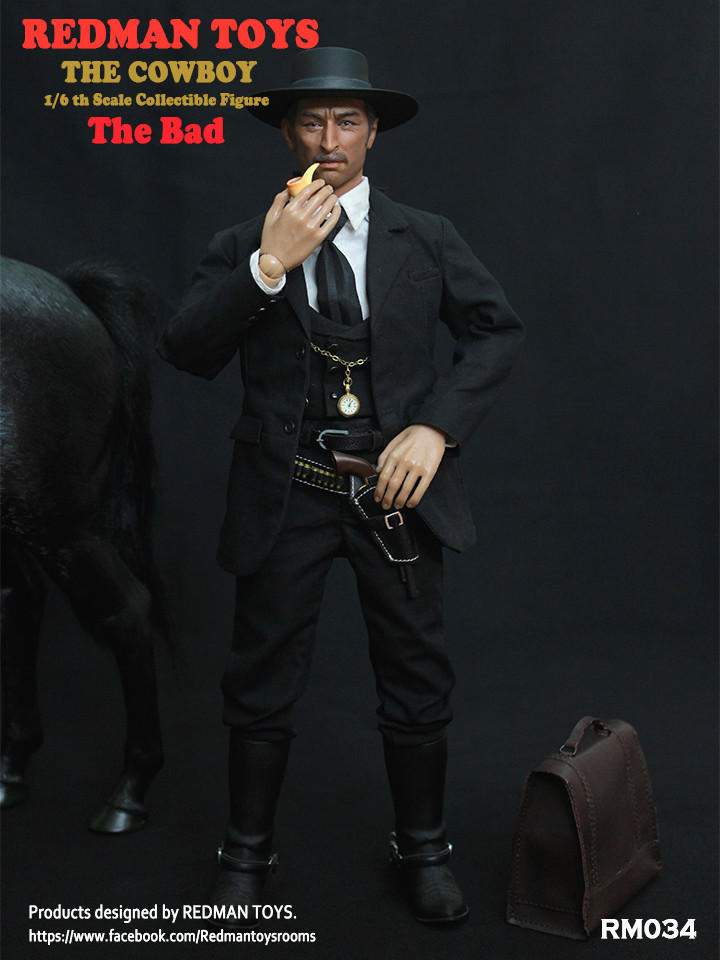 NEW PRODUCT: REDMAN TOYS New: 1/6 Western Cowboy - The Bad 19202317