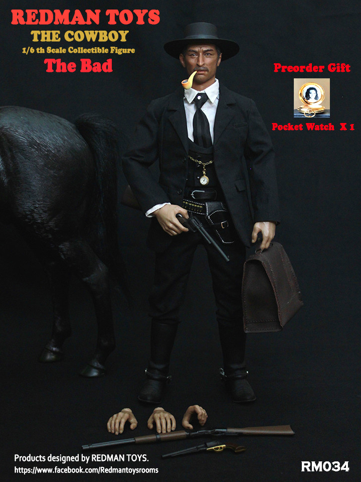 NEW PRODUCT: REDMAN TOYS New: 1/6 Western Cowboy - The Bad 19202318