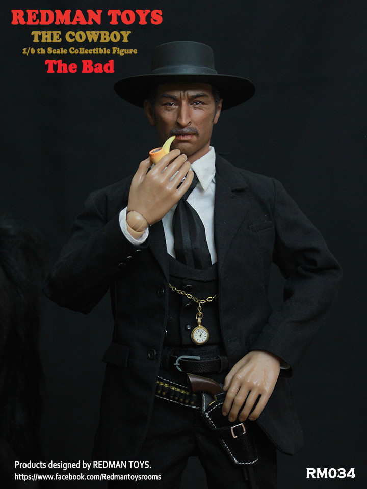 NEW PRODUCT: REDMAN TOYS New: 1/6 Western Cowboy - The Bad 19202319