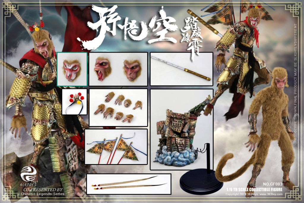Mythology - NEW PRODUCT: 303TOYS x Evening phase: 1/6 National Wind Legend Series - Sun Wukong Monkey King Apocalypse & Dasheng Qitian & Stepping 19242510