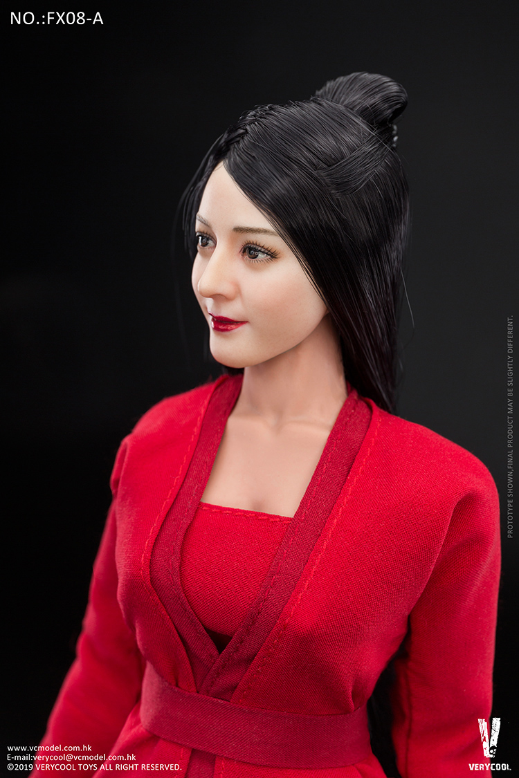 body - NEW PRODUCT: VERYCOOL: 1/6 Asian beauty head carving + VC 3.0 semi-encapsulated female body suit & costume red dress set single sale 19300411