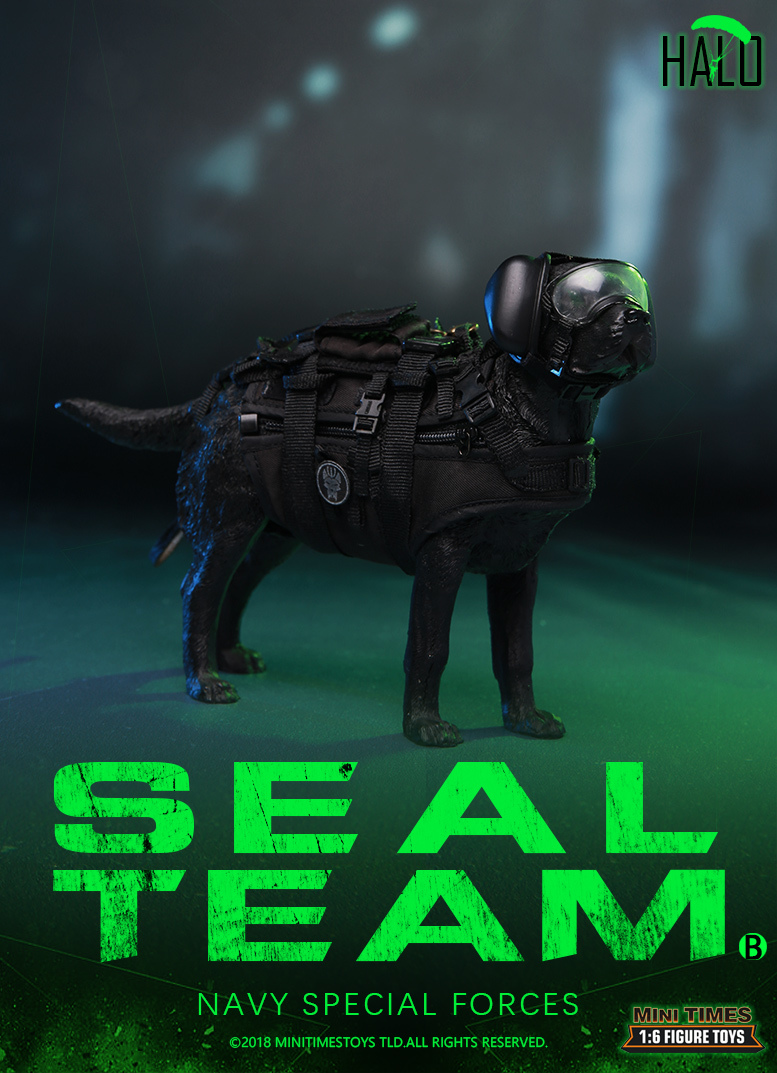 "Dog - NEW PRODUCT: MINI TIMES TOYS US NAVY SEAL TEAM SPECIAL FORCES ""HALO"" 1/6 SCALE ACTION FIGURE MT-M013 1933"