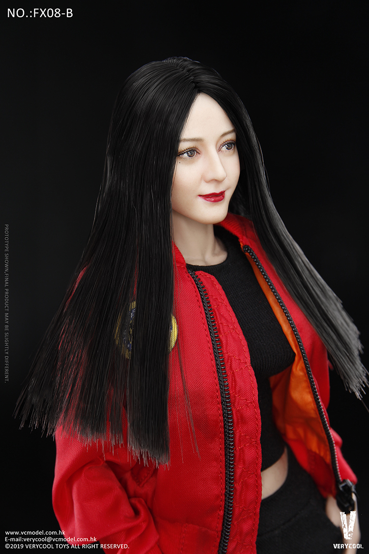 body - NEW PRODUCT: VERYCOOL: 1/6 Asian beauty head carving + VC 3.0 semi-encapsulated female body suit & costume red dress set single sale 19330611